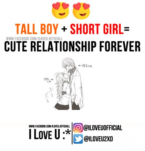 Love Relationship Memes - tall boy short girl www facebook comiloveuofficiall cute relationship forever 182cn
