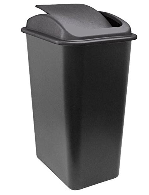 Slim Bathroom Trash Can With Lid by United Solutions Wb0236 41 Quart Slim Fit Wastebasket With