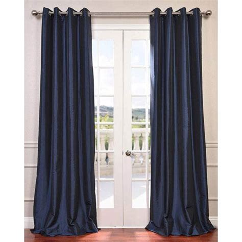 108 inch navy blackout curtains navy blue 108 x 50 inch grommet blackout faux silk taffeta