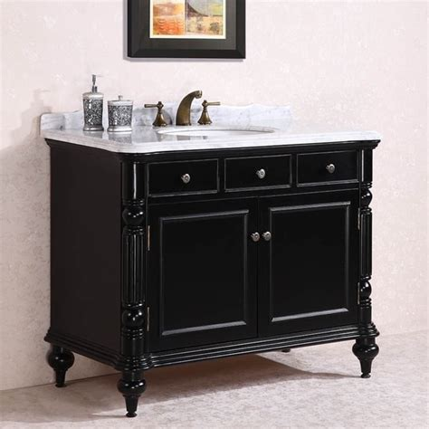 antique kitchen sink carrara white marble top single sink bathroom vanity in 1282