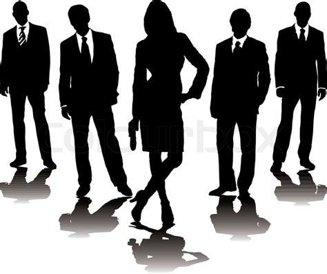 collection  business people  stock vector