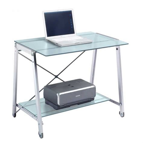 Tempered Glass Computer Desk by Tempered Glass Desk Design And Style