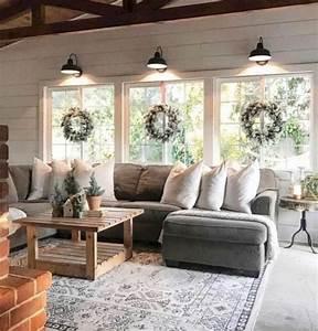 44, Beautiful, Rustic, Farmhouse, Living, Room, Design, Ideas, Make, Your, Home, Comfortab, U2026