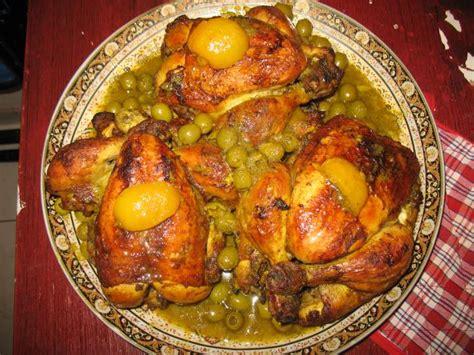 cuisine marocaine poulet aux olives poulet aux olives photo