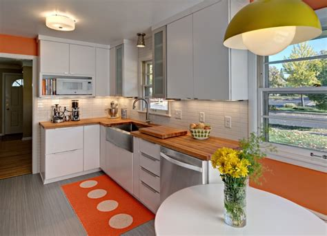 orange kitchens with white cabinets 30 inspiring kitchen decorating ideas homesfeed 7208