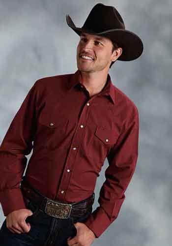 ff long sleeve western shirt wine big tall mens