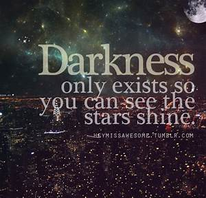 darkness quote on Tumblr