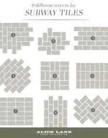 kitchen backsplash subway tile patterns 25 best ideas about subway tile patterns on tile floor kitchen bathroom tile