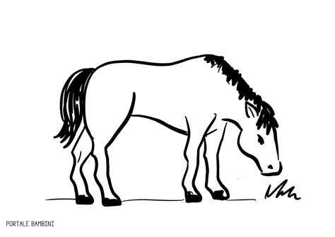 cavalli da colorare per bambini piccoli disegni di cavalli da colorare portale bambini 30