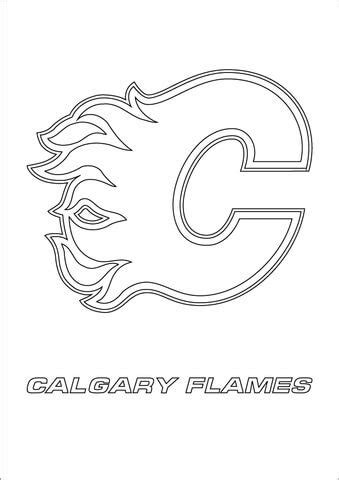 calgary flames logo coloring page  nhl category