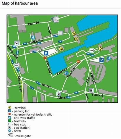 Tallinn Port Harbour Map Ferry Access Passenger
