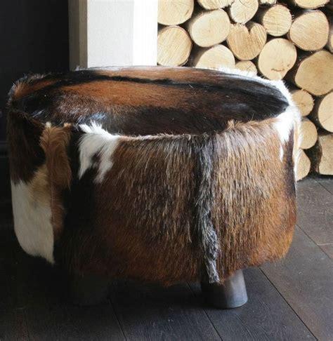 Cowhide Stool by Large Cowhide Stool By Ella Notonthehighstreet