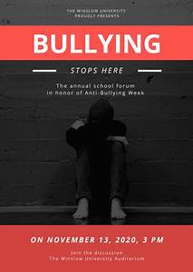 Online Invoices Customize 52 Anti Bullying Poster Templates Online Canva