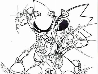 Sonic Coloring Pages Metal Super Evil Shard