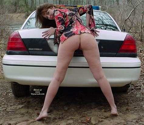 Brunette Showing Ass And Legs On Police Car December
