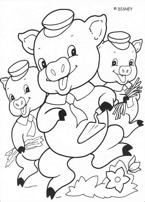 Three little pigs coloring pages Hellokids com