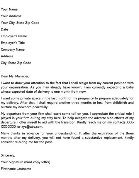 45 Excelent Resignation Letter With Intent To Return Image Ideas – resignation letter