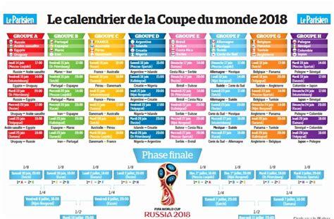 calendrier du mondial de foot  le calendrier sportif