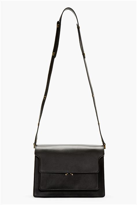Marni Black Leather Small Shoulder Bag In Black Lyst Interiors Inside Ideas Interiors design about Everything [magnanprojects.com]