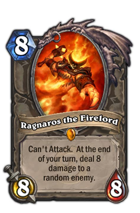 ragnaros the firelord hearthstone heroes of warcraft wiki