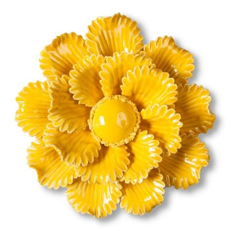 Flower Wall Decor Target by Threshold Ceramic Flower Wall Sculpture Yellow Target