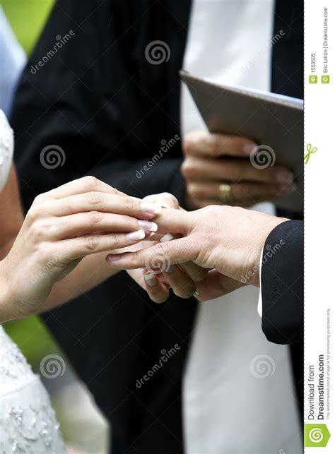wedding ceremony ring exchange stock 1553505