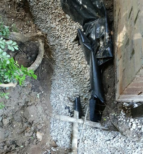 install french drains  foundations hd foundations
