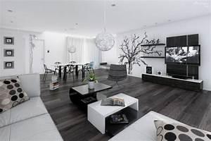 Decoration Salon Contemporain : d co salon moderne blanc ~ Teatrodelosmanantiales.com Idées de Décoration