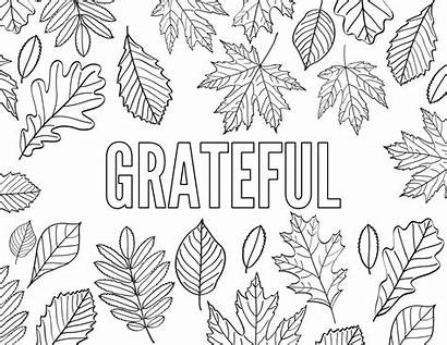 Coloring Printable Thankful Pages Thanksgiving Sheets Word