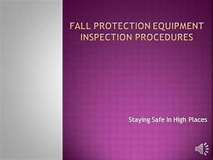Fall Protection Equipment Inspection 12
