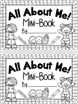 all about me mini book beginning of the year end of 297 | original 1294382 1