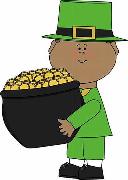 Pot Gold Clipart Saint Clip Patricks Boy