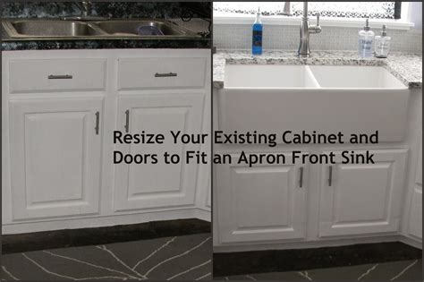 Upper Kitchen Cabinet Ideas - my so called diy blog resize your existing cabinet and doors to fit an apron front sink