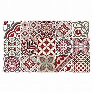 Tapis Vinyle Sol : tapis de sol en vinyle electric rouge tapis carreaux ~ Premium-room.com Idées de Décoration