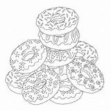 Coloring Donut Pages Printable Template Popular sketch template