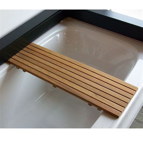 teak wood bathtub caddy bathtub shelf seat in burmese or plantation teak