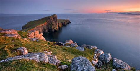 Neist Point Lighthouse Isle Of Skye Scotland At The