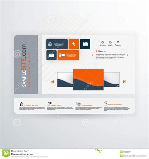 User Interface Design Document Template by Vector Flat User Interface Ui Infographic Template