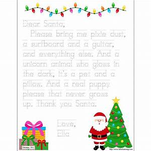 personalized printable letter to santa With personalised santa letter printable