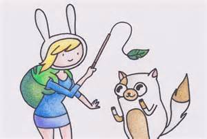 Adventure Time Fionna and Cake Drawing