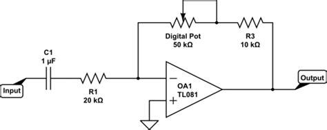 Amplifier Digital Gain Control With Pot
