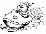 Coloring Pages Ski Doo Snowmobile Printables Santa sketch template