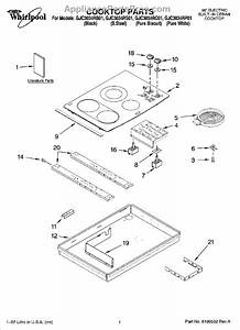 Parts For Whirlpool Gjc3034rb01  Cooktop Parts  Optional