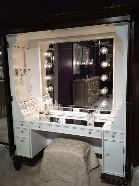 makeup vanity table  lights ideas  foter