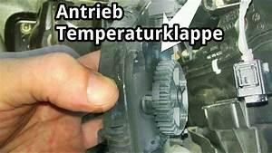 Stellmotor Temperaturklappe Warmluft    Kaltluft Ausbauen