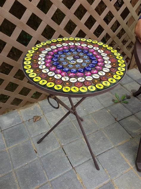beer cap table epoxy beer cap table top set with epoxy resin i filled and