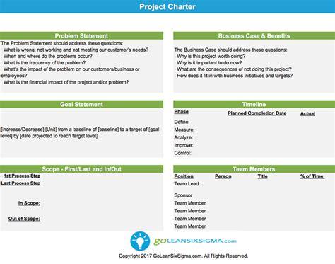 project charter template project charter template exle