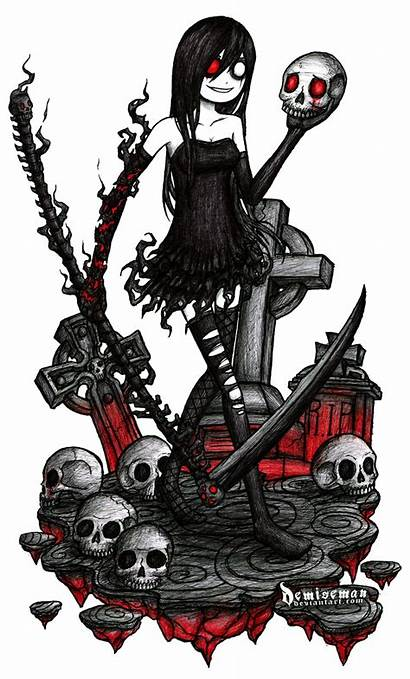Deviantart Demiseman Scythe Emo Dibujos Night Creepy