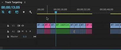 Targeting Track Premiere Navigate Timeline Pro