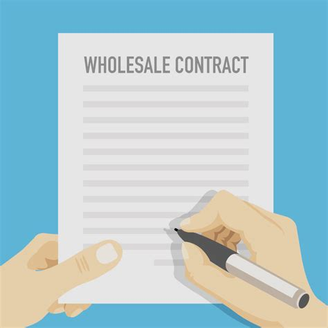 wholesale contract template create